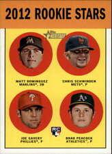 2012 Topps Heritage #362 Matt Dominguez/Chris Schwinden/Joe Savery/Brad Peacock