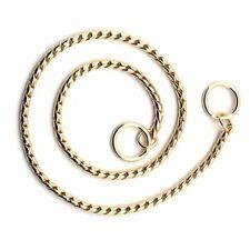 Dog Show Snake Training Chain Collar  - 24kt Gold Plated - 22 inch Long Doberman