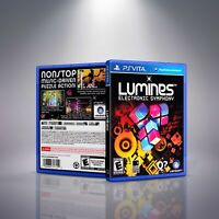 Lumines: Electronic Symphony - PlayStation Vita Cover and Case. NO GAME!!