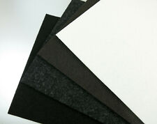 Filzgleiter Meterware ab 1m, Filz stark selbstklebend, schwarz weiß grau