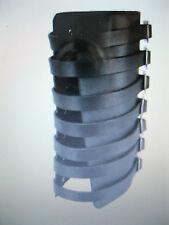 Leather 7 Buckle Gauntlet Wristband Wrist Band METAL,PUNK,GOTH,BIKER Styles