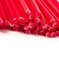100 7.5 pollici rosso di plastica LOLLIPOP BASTONI YYYxx x 4 mm