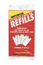 ENFORCER Over Nite Glue Flea Trap Refills - 4 Refills in Bag