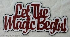 DISNEY LET THE MAGIC BEGIN Premade Scrapbook Paper Piecing Page TITLE - SSFFDeb