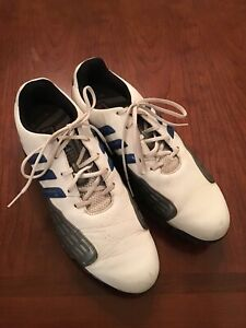 Adidas Golf Shoes Powerband Chassis Grip Zone Traxion 791003 US 11 Blue Accents