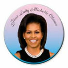 First Lady Michelle Obama 3 Inch Portrait Button Pin Barack