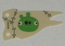 Lego New Tan Cloth Flag 8 x 4 Wave with Green Pig Face Pattern Angry Birds