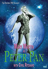 DVD: Peter Pan, Carolyn Leigh. New Cond.: Mary Martin, Cyril Ritchard, Kathy Nol