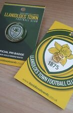 LLANIDLOES TOWN FOOTBALL CLUB enamel pin Badge New. Carded FAW Wales Welsh