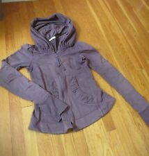 Prairie Underground short CLOAK HOODIE jacket Organic Cotton purple s coat XS