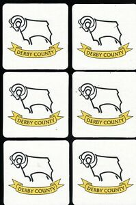 DERBY COUNTY F.C. Pack of Official Crested Beer Mats / Coasters FREE POST UK