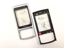 Original Nokia 6700 Slide A Cover Front Glas Schale Kappe Oberschale Silber