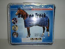 Back on Track Pferdedecke Stalldecke blau 135 cm = 75 in ( Rug Rime 160g )