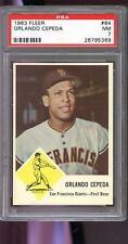 1963 Fleer #64 Orlando Cepeda San Francisco Giants NM PSA 7 Graded Baseball Card
