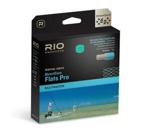 Rio Tropical Series DirectCore FlatsPro SALTWATER WF8F Fly Line Aqua/Orange/Send