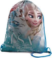Girls - Disney Frozen Elsa Queen of Snow Drawstring Gym Trainer PE Bag