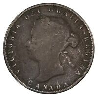 Raw 1872 Canada 50C Uncertified Ungraded Circulated Silver Half Dollar Coin