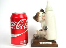 Vintage 1984 Giuseppe G. Armani Cat Kitten Licking Baby Bottle Figurine Italy