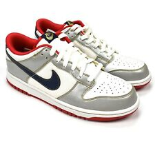 NWT Nike Dunk Low CL Euro Tony Parker White Silver Navy Gold 9.5 2004 AUTHENTIC