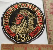 Vintage Indian motorcycle patch embroidered collectible old biker vest emblem