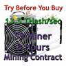 8 Hours Mining Contract - 14.5 TH/s antMiner S9 Bitmain Bitcoin BTC Ƀ Fast start