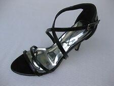 Pierre Dumas Womens Shoes NEW $45 Tory Black Patent Ankle Strap Sandal 6 M
