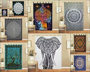 Indian Handmade Small Curtain Mandala Design Wall Hanging Door Window Drape Art