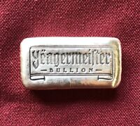 "1oz Hand Poured 999 Silver Bullion Bar ""Yeagermeister Bullion"" by YPS"