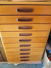 More details for 2) 10 drawer pine cabinet entomology taxidermy lepidoptera butterfly moth insect