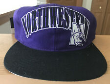 Vtg Starter Northwestern Wildcats Snapback Hat Cap Deadstock Wool NWT Purple