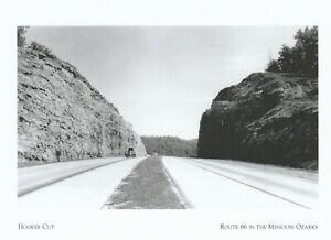 "*Missouri-""Hooker Cut"" (90-Foot-Deep Rock Cut)...Route 66-Ozarks (Postcard) {G4}"