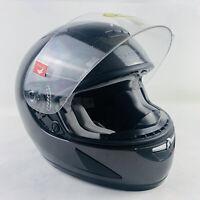 Snell M2005 Dot Alltop AP-989 Hawk Black Motorcycle Full Face Helmet Size Small