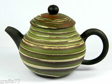 Exquisite Chinese Yixing Zisha Pottery Teapot,Twisted Clays,Handwork,130 CC