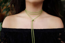 CLEARANCE GREEN String Faux Suede Cord: DIY Wrap Around Tie Ribbon Choker Boho