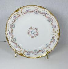 Antique Theodore Haviland Limoges Coup Soup Bowl Pink Rose Gold Gilt Trim France
