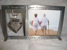 Memorial Locket Always in My Heart Ash Urn Holder Inside/ Picture Frame