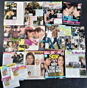 Tom Cruise magazine clippings + Katie Holmes