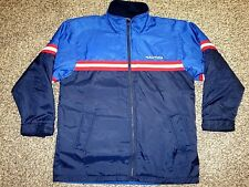 Nautica Mens Jacket REVERSIBLE Winter Coat Fleece Inner Size M Red/Blue Vtg