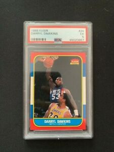 Fleer NBA 1986 Card   Darryl Dawkins #24   PSA Graded 5 Ex