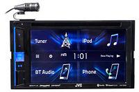 "JVC KW-V25BT 6.2"" Car DVD/CD Receiver Bluetooth Monitor Sirius XM/iphone/Android"