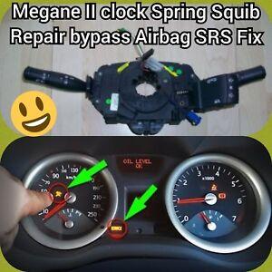 RENAULT MEGANE II CLOCK SPRING AIR BAG SQUIB COUPLING WIPER - Bypass Repair Fix