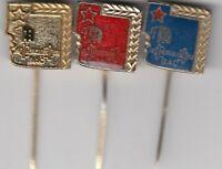 pin badge 3 pins WEIGHTLIFTING  Weights liftiing club Herkules Bac Yugoslavia