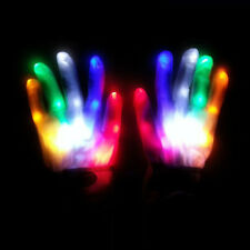 LED Finger Light Up Gloves Colorful Lighting Xmas Rave Party Decor Toys New