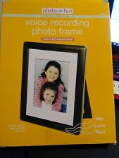 Photo Fun Voice Recording Picture Frame 4x6 Or 5x7 Photo New