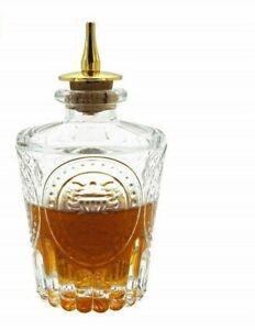 Vintage Style Donatello Dash Bottle Bitter Bottle Glass Liquor Bar Kit Cocktails