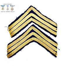Early 20Th Century Military Or School Chevron Stripe Insignia Pair 6� Wide