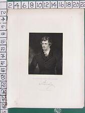 1844 antica stampa ~ Edward Geoffrey STANLEY ~ Lord STANLEY