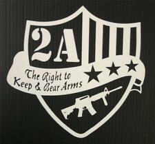 """Right to Keep and Bear Arms 2A AR-15 Shield - 7"""" Decal Sticker"""