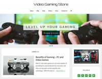 [NEW DESIGN] * VIDEO GAMING * store blog website business for sale AUTO CONTENT