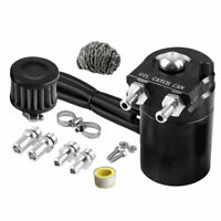 Oil Catch Reservoir Breather Can Tank + Steel wool Filter Kit Cylinder Engine